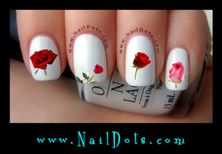 Rose Nail Decal