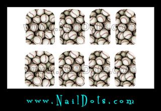 Baseball Nail Wraps or Nail Tips