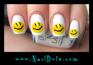 Smiley Face 1 Nail Decals