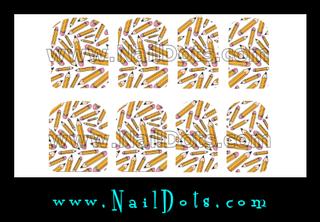 Pencil Nail Wraps or Nail Tips - 1