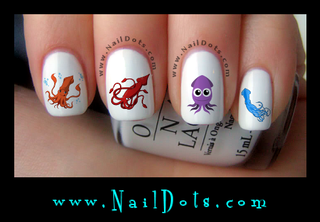 Squid Nail Decal