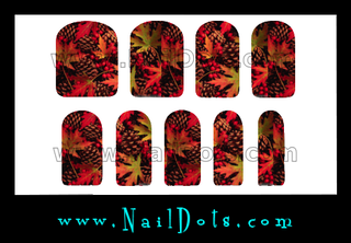 Pine Cone Nail Wraps or Nail Tips