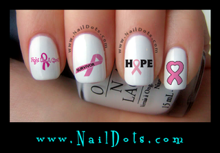 Breast Cancer Awareness Nail Decals, Combo