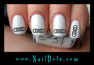 Double Infinity Nail Decal