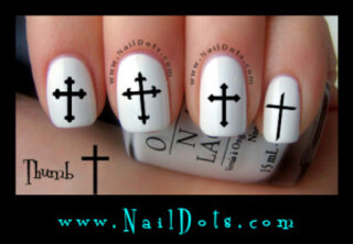 Cross Nail Decal - Set 2