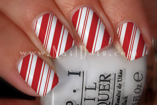Candy Cane Nail Wraps or Tips