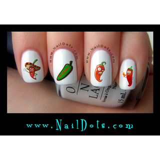 Jalapeno Nail Decals