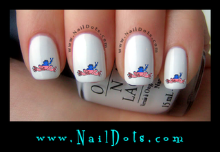 American Flag Peace Frog Nail Decals
