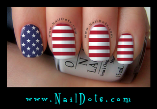 Flag Nail Wraps - CLEARANCE