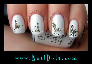 Zebra Nail Decals, Set 2