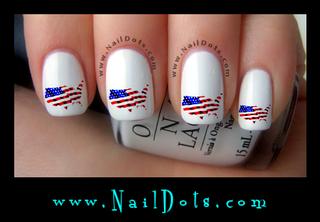 US FLAG Nail Decal