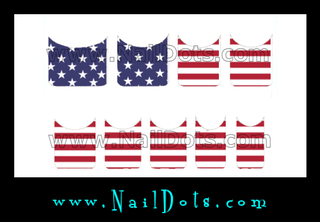 Flag Nail Tips - CLEARANCE