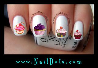Cupcake Nail Decals