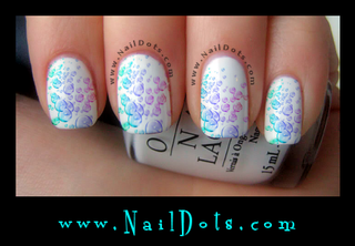 Pastel Bubble Nail Wraps or Nail Tips