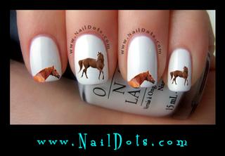 Brown Horse Nail Decal