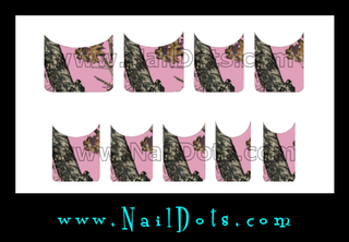 Pink Camo Nail Tips - TPC CLEARANCE