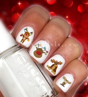 Christmas Moose Nail Decals