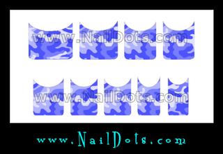 Blue Camo Nail Tips