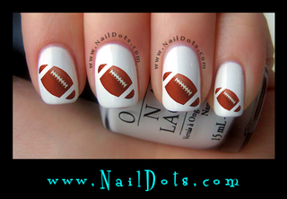 Football Nail Decals
