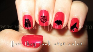 Black Bears Nail Decal
