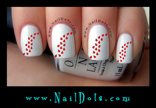 Marching Lady Bug Nail Decals
