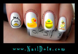 Cute Duck Nail Decal