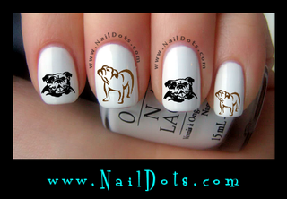 Bulldog Nail Decal