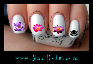 Lotus Flower Nail Decals