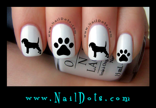 Beagle Nail Decals