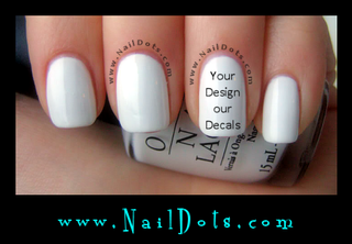 A) Custom Order Nail Decal - ORDER FIRST