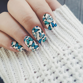 Butterfly Nail Wraps or Nail Tips