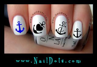 Anchor Nail Decals