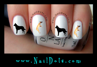 Belgian Malanois Nail Decal