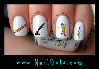 Handwriting Nail Decals