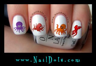 Octopus Nail Decal