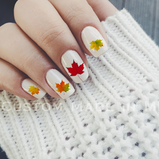 Fall Leaves Nail Decal