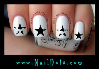 Grunge Star Nail Decals - GSGrung