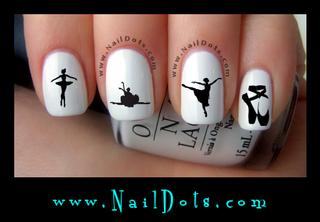 Ballet Nail Decals