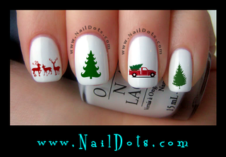 Red Truck Nail Decals