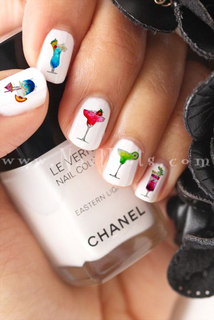 Tropical Drinks Nail Decal