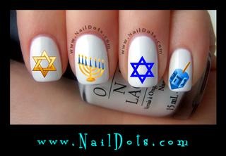 Chanukah Nail Decals