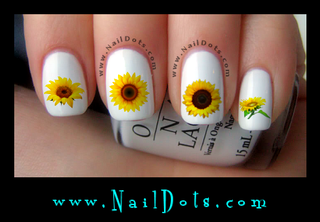 Sunflower Nail Decal