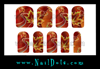 Artsy Fall Leaves Nail Wraps