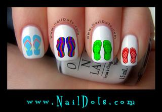 Flip Flop Nail Decals