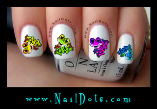 Cute Frog Nail Decal