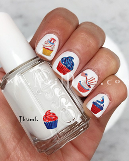 American Cupcake Nail Decals
