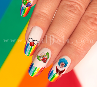Clown Nail Decal