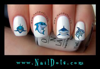 Shark 1 Nail Decal