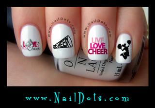 Cheer Pink Nail Decals