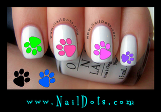 Paw Print Nail Decal
